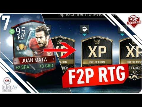 FIFA MOBILE 18 F2P RTG Ep 7   Using 95 Mata for Xp to claim Now & Later players & Rewards