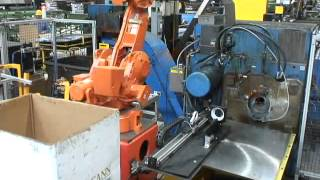 Hautau Tube Saw - Customer Robot Unloading and Packing