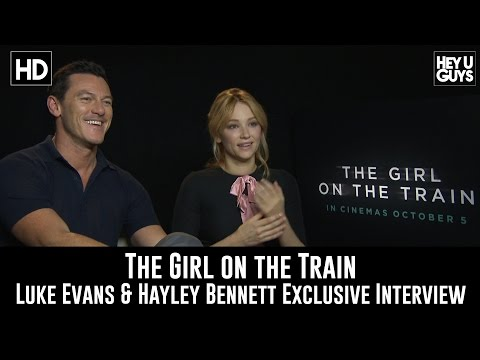 "Luke Evans & Haley Bennett Exclusive Interview For Movie ""The Girl on the Train"""