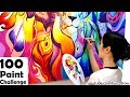 100 PAINT PAINTING CHALLENGE | New Art Challenge! | Mei Yu