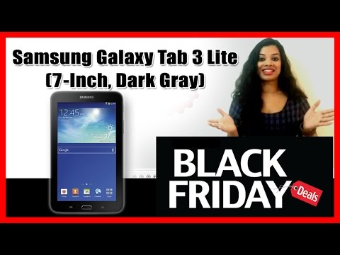 Samsung Galaxy Tab 3 Lite 7-Inch Dark Gray - Black Friday Sale