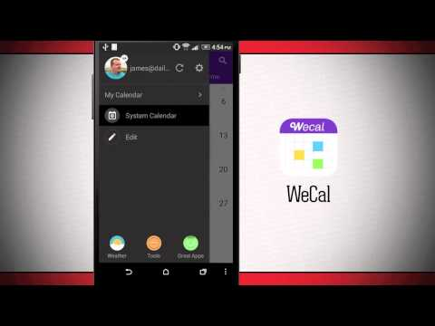 Video of WeCal Calendar/Weather/Todo