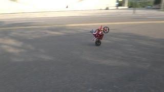 Super Rider SR4 RC Dirt Bike -- Pulling Wheelies