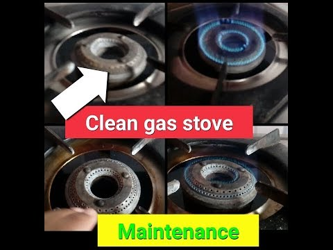 gas stove | how to clean gas stove Top | clean gas stove grates and burners | clean stainless steel❤