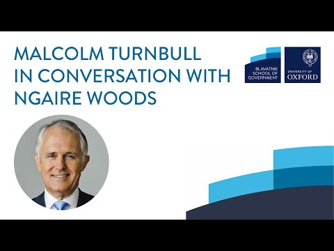 Malcolm Turnbull in conversation with Ngaire Woods
