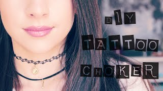 DIY Tattoo Choker with Pendant - YouTube