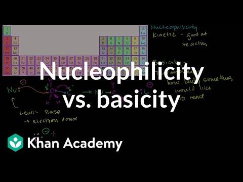 Nucleophilicity Vs Basicity Video Khan Academy