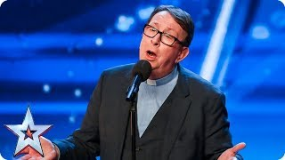 Video Father Ray Kelly takes us to church with AMAZING version of 'Everybody Hurts' | Auditions | BGT 2018 MP3, 3GP, MP4, WEBM, AVI, FLV Mei 2018