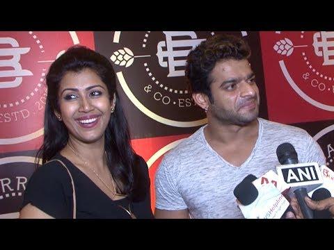 Karan Patel with Ankita Bhargawa clicked at a new