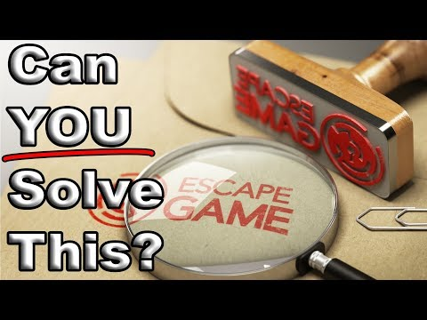 This Video IS an Escape Room Puzzle! Can you Solve it?