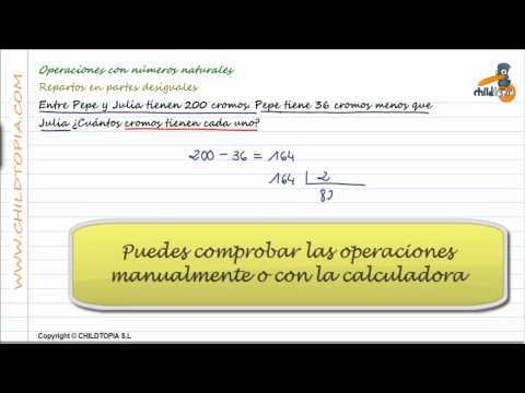 Vídeos Educativos.,Vídeos:Problemas numeros naturales 4