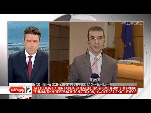 Ο προϋπολογισμός του Αυγούστου ξεπέρασε το στόχο κατά 287 εκατομμύρια ευρώ | 16/09/2019 | ΕΡΤ