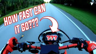 8. CRF250L TOP SPEED RUN!! Can it highway?
