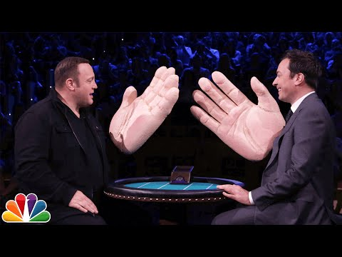 Jimmy Fallon and Kevin James slap each other with giant