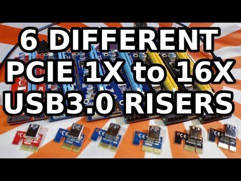 6 Best PCI-E 1X to 16X USB3.0 GPU Risers for Mining Rigs Ethereum ZCash Monero