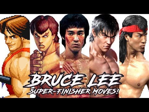 "TOP 10 ""BRUCE LEE"" Style Super/FinisheR Moves in Fighting Games!"