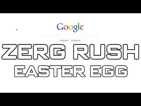 Google Easter Egg - Zerg Rush