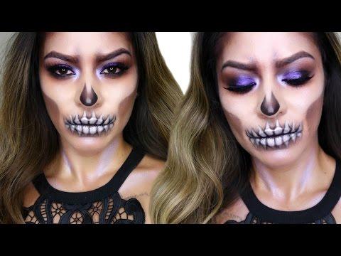 Glam Skull Makeup Tutorial | Halloween Makeup
