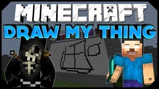 "Minecraft: DRAW MY THING | ""TOASTER??? WHAT??!?!"" W/ AciDic BliTzz&Friends! (Mini-Game)"