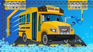 Video School bus | car wash | childrens cartoon street vehicles MP3, 3GP, MP4, WEBM, AVI, FLV Oktober 2018