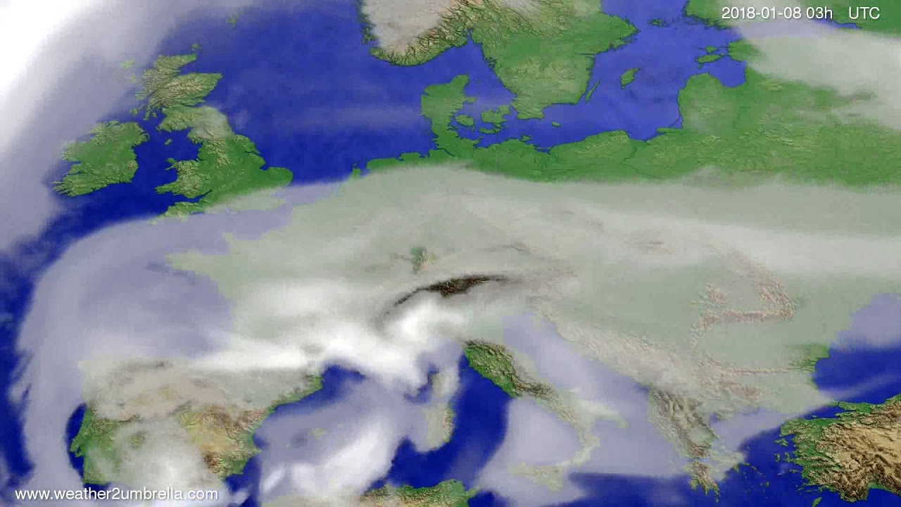 Cloud forecast Europe 2018-01-05
