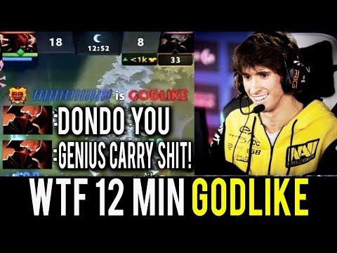 WTF 12 Min Godlike! MK Most Genius Carry Max Damage by NaVi Dendi Dota 2