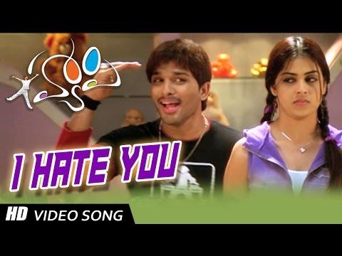 I Hate You Full HD Video Song || Happy Movie || Allu Arjun, Genelia