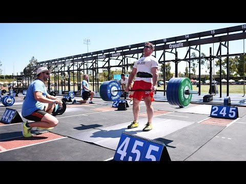 live - Deadlift Ladder event. The CrossFit Games -- (http://games.crossfit.com) The CrossFit Games® - The Sport of Fitness™ The Fittest On Earth™