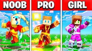 NOOB vs PRO vs GIRL FRIEND AVATAR THE LAST AIRBENDER Minecraft BUILD BATTLE! (Building Challenge)