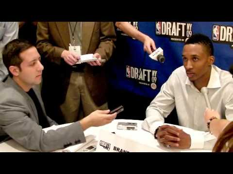 Brandon Jennings - 2009 NBA Draft Media Day Interview