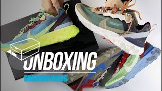 Video Unboxing Undercover Nike React Element 87 MP3, 3GP, MP4, WEBM, AVI, FLV September 2018