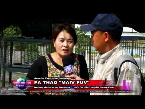 """Suab Hmong Entertainment:  Interviewed Pa Thao """"Maiv Puv"""", Hmong-Thai Actress"""