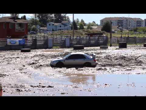 Subaru Impreza WRX STI on mud pit