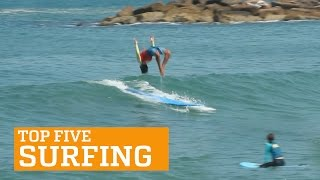 PEOPLE ARE AWESOME: TOP 5 - SURFING, clip giai tri, giai tri tong hop