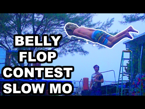 BELLY FLOP COMPETITION!!! IN SUPER SLOW MOTION!!! (видео)