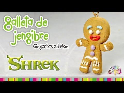 Gingerbread Man Cookie polymer clay tutorial / Galleta de gengibre de arcilla polimérica