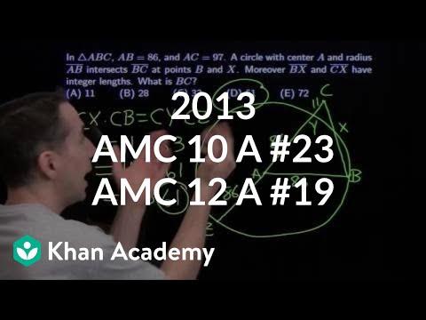 2013 AMC 10 A #23 / AMC 12 A #19 (video) | Khan Academy