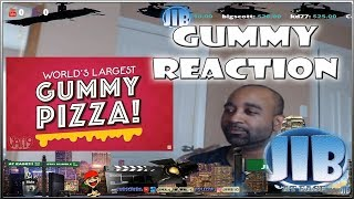 We Made The World's Largest Gummy Pizza! TRENDING JIB REACTION