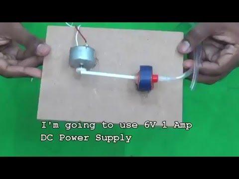 How to Make a Mini Electric Air Pump for Home Aquarium