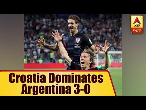 FIFA World Cup 2018: Croatia Dominates Argentina 3-0 | ABP News