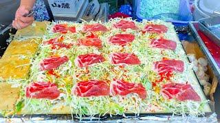 Video japanese street food - OKONOMIYAKI お好み焼き MP3, 3GP, MP4, WEBM, AVI, FLV Februari 2019