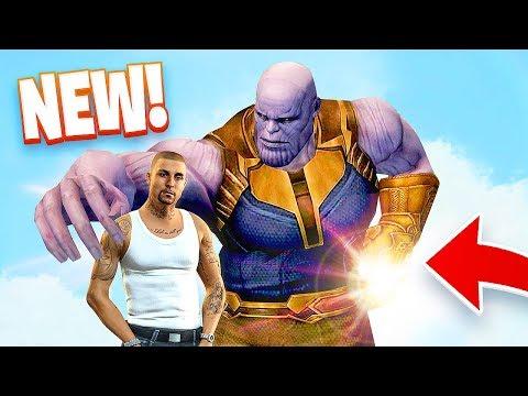 THANOS w/ INFINITY GAUNTLET!! (GTA 5 Mods) (видео)