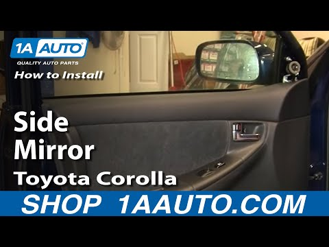 How To Install Replace Broken Side Rear View Mirror Toyota Corolla 03-08 1AAuto.com