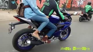 Video Driver Grab Bike pakai motor all new r15 v.3 MP3, 3GP, MP4, WEBM, AVI, FLV Oktober 2017