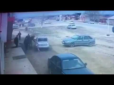ДТП в Курчалоевском районе Чечни попало на видео - DomaVideo.Ru