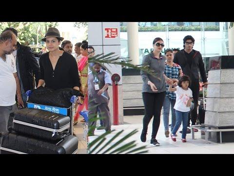 Airport Spotting: Aishwarya Rai Bachchan, Sachin T