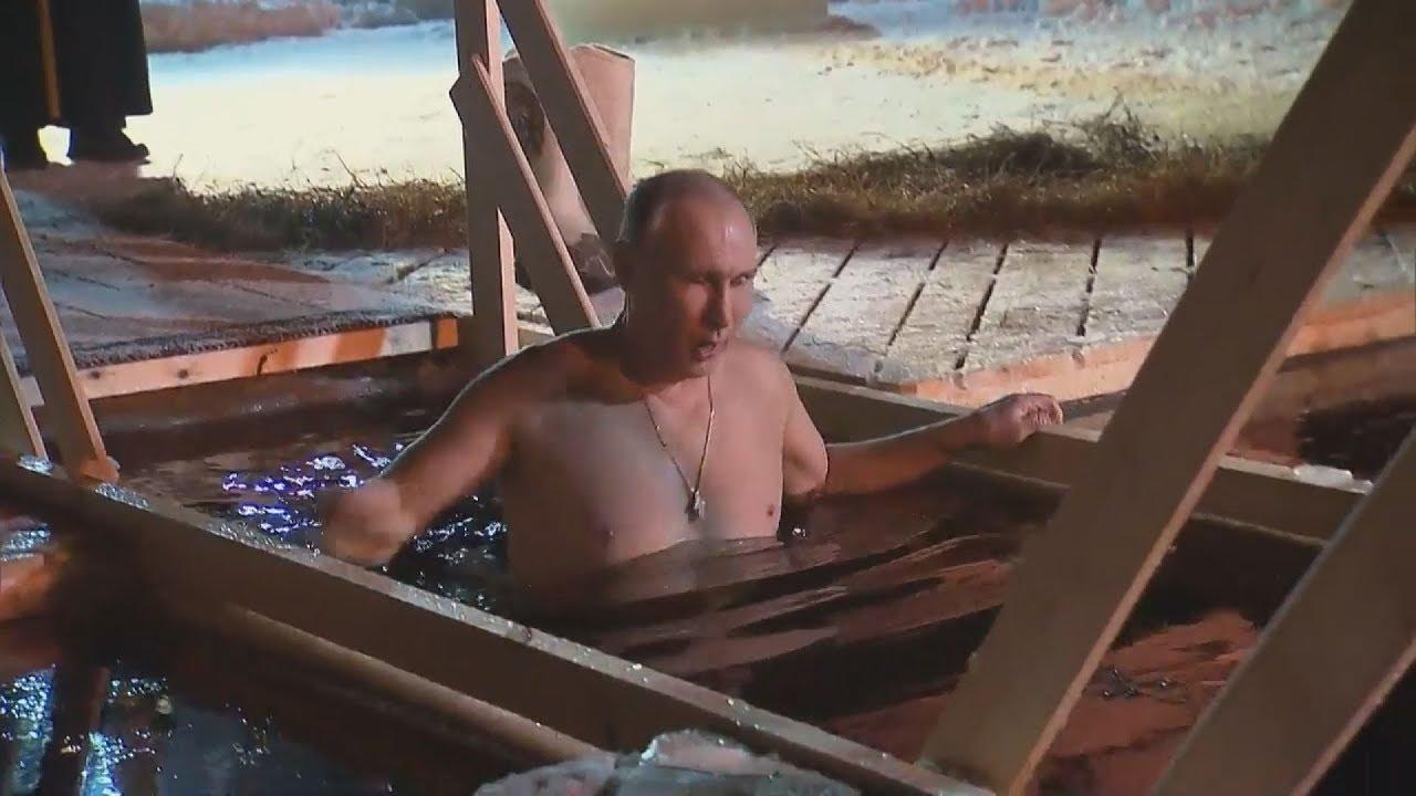 Στα παγωμένα νερά λίμνης βούτηξε για τα Θεοφάνεια ο Β.Πούτιν