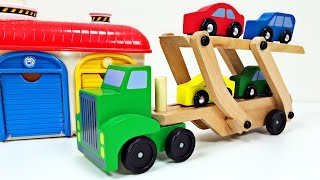 Big Rig Semi Truck Car Carrier Teaching Colors for Kids - #1 Best Preschool Learning Colours Video for Children - Organic Learning.  Please take a moment to LIKE our family-friendly video, SHARE it with family & friends, and SUBSCRIBE to our Organic Learning channel… Your help and support are greatly appreciated!  Follow us on Twitter:  https://twitter.com/OrganicLearningFollow us on Instagram:  https://instagram.com/OrganicLearningOfficial Website:  https://OrganicLearning.com - Fun Toy Giveways, Coloring Downloads, & More.Fan Mail - If you would like us to feature your letter or car/truck drawing in a future episode, please send them to (email) FanMail@OrganicLearning.com or (snail mail) Organic Learning, 2355 Westwood Blvd. #321, Los Angeles, CA 90064 USANOTE:  If you are under the age of 18, please get your parent or guardian's permission before sending fan mail or fan email as it may be shared publicly on our website, social media pages, and in our YouTube videos. Full names and addresses will never be shared.This fun, educational, kid-friendly early learning video uses a Melissa & Doug Car Carrier Truck (or Car Transporter) with four wooden Cars and a colorful Tayo the Little Bus 꼬마버스 타요 parking garage, and two family-friendly animated videos featuring a parking garage, auto transporter, and cars & trucks for kids, to teach kids, children, toddlers, babies, special needs children, and children with learning disabilities about the colors Red, Green, Yellow, Blue, Orange, Purple, Pink, Brown, Black, Gray, and White.  We hope you and your child have fun learning about colors or colours as we continue this series of learning basic colors videos for kids!Official Merchandise:  http://organiclearning.spreadshirt.com/Link to Share this video:  https://youtu.be/MzEY3UTWXLIOrganic Learning Playlists & Videos:Learning Street Vehicles for Kids (42 Mins) Cars and Trucks Hot Wheels Matchbox Tomica Disney Tayo:https://youtu.be/595kmFVeuDcLearning Street Vehicles for Kids (3