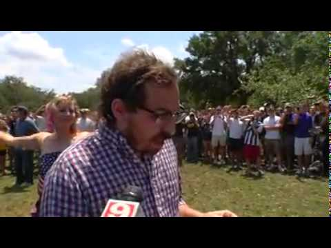 Ben Haas fails at his attempt to burn the USA Flag at LSU 5/11/11
