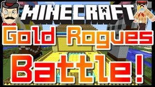Minecraft Clay Soldiers - GOLD ROGUES Battle ! Clay Soldiers 100th Subs Match !